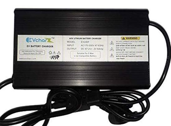 Picture of EVcharZ 67.2V 6A E-Bike Lithium Battery Charger for Lithium Battery of 60V Lithium Battery Pack